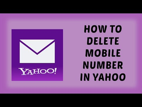 How To Delete Mobile Number in Yahoo | Remove Mobile Number in Yahoo Account | Tutorials In Hindi