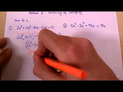 Polynomial Factoring 2: Grouping Method