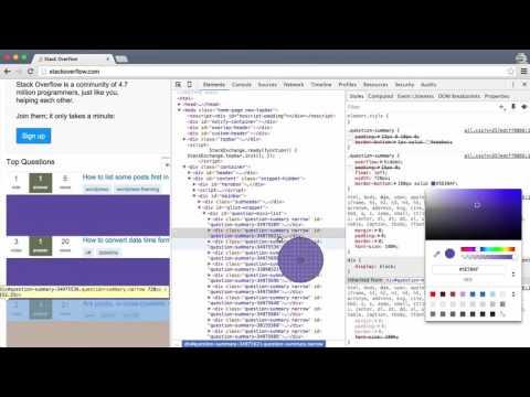 Chrome Developer Tools (Devtools) Tutorial Introduction for Beginners