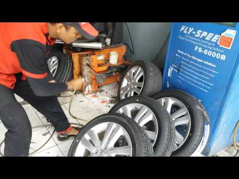 Youtube : Car and Driver : How to Replace Car Tires, Inflating with Nitrogen Tires Inflation System.