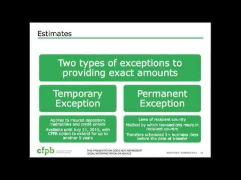 CFPB Remittance Rule (Regulation E)
