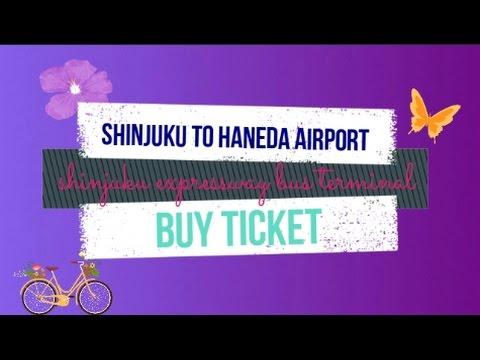Shinjuku to Haneda airport - Purchase bus ticket at Shinjuku expressway bus terminal
