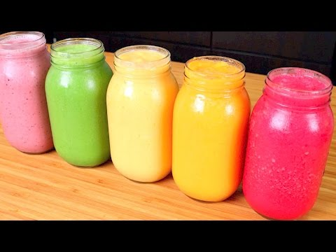 5 HEALTHY SMOOTHIES (for breakfast, weight loss, healthy skin, & detox)
