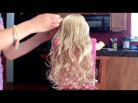 How to curl your AG doll hair without heat!