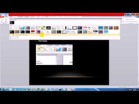 PowerPoint 2010:  How to Import a New Master Template or Theme Into Your Presentation