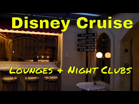 Disney Fantasy Cruise Family Vacation - Lounges and Night Clubs
