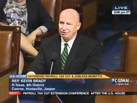 Rep. Kevin Brady Unemployment Extension floor remarks wrap up