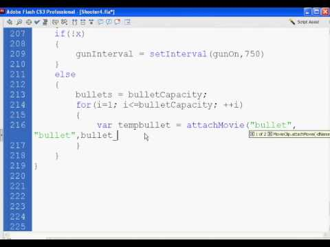Flash Shooter Game 14 - Actionscript 2.0