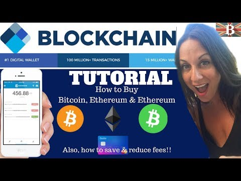 BlockChain.info Tutorial: How to buy Bitcoin & Reduce Fees 2018