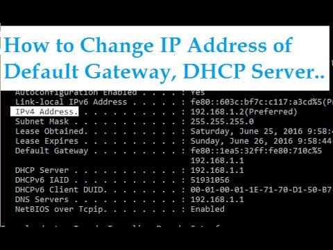 How to change IP Address of Default Gateway, DHCP Server & Subnet Mask in LAN Network (ADSL Modem)