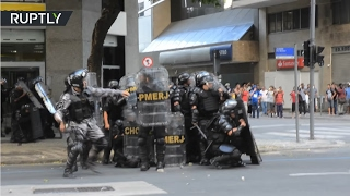 Austerity Grip: Violent protests break out in Brazil over water company privatization