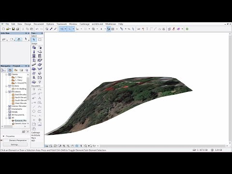 Integrating Google Earth Locations into ArchiCAD 17 and Creating real Contour Lines