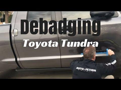 Debadging Toyota Tundra: Replacing chrome emblems with black
