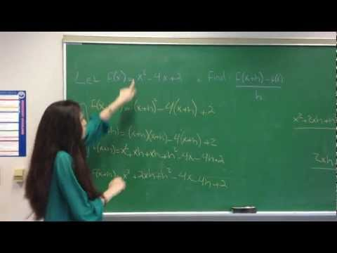 How to find a difference quotient