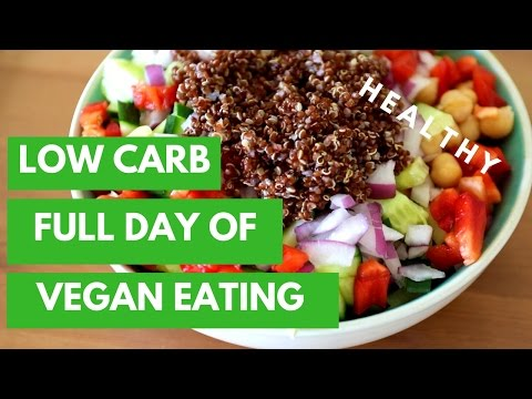 FULL DAY OF LOW CARB VEGAN EATING | EASY & HEALTHY