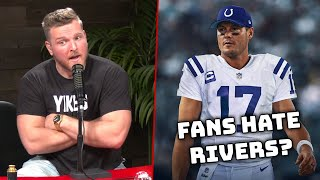 Pat McAfee's Thoughts On Colts Fans Hating The Rivers Signing