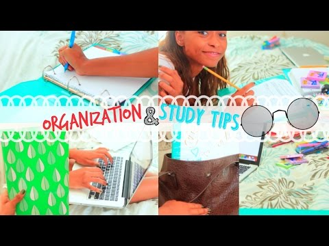 Back to School: Organization & Study Tips for School!