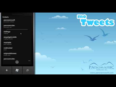 moTweets for Windows Phone 7 - Posting a Tweet - Panoramic Software Inc.