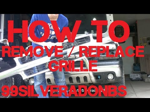 How to remove/replace the grille 99-02 Silverado 00-06 Tahoe/Suburban