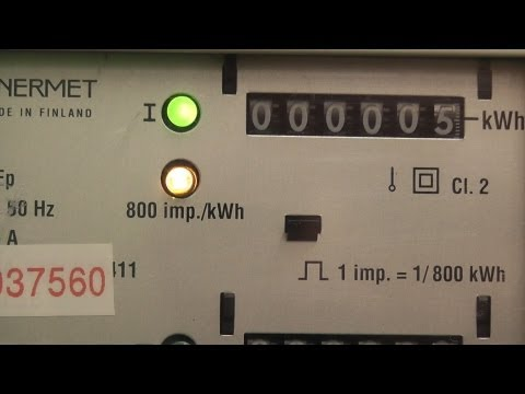 Demand calculation from an impulsing kWh meter