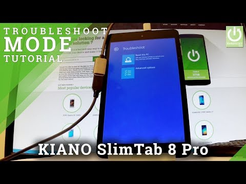 How to Enter Troubleshoot Mode in KIANO SlimTab 8 Pro - Windows Recovery Mode