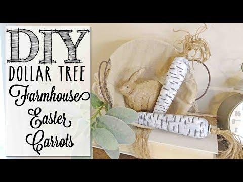 DIY Farmhouse Easter Carrots | Dollar Tree Craft