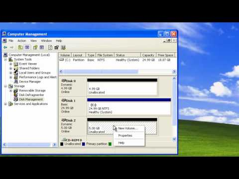 Windows XP - Basic and Dynamic Hard Disks