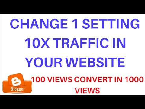 Change 1 Setting and Get 10X Traffic i Your Website