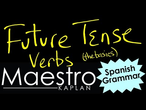 FUTURE TENSE: How to conjugate verbs in Spanish