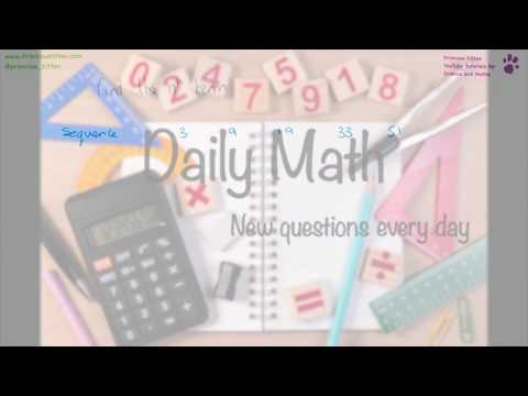 Quadratic nth Term - Daily Math #7
