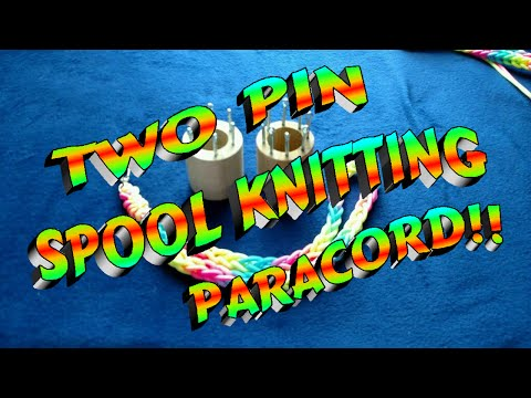Paracord Spool Knitting Using Two Pins