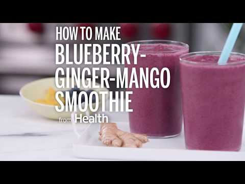 How To Make Blueberry-Ginger-Mango Smoothie | Health