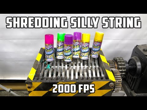Shredding Silly String with Shredder