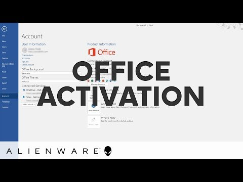 Office activation issues on Alienware systems