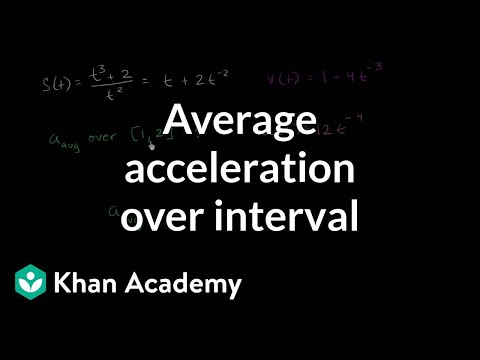 Average acceleration over interval | AP Calculus BC | Khan Academy