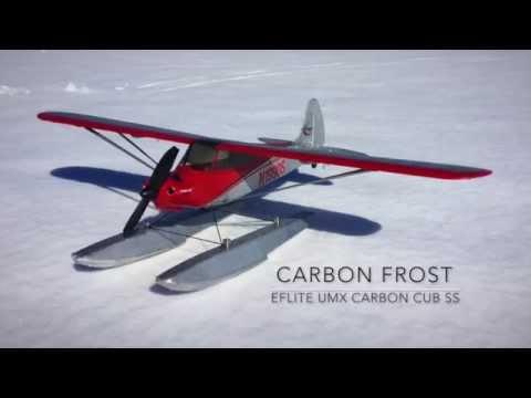 Mike's Eflite UMX Carbon Cub SS - Carbon Frost Snow Float Flight