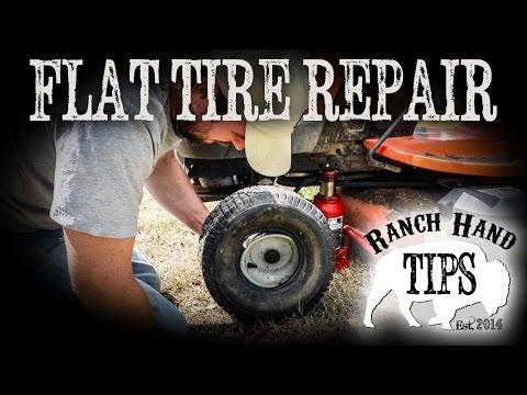 Husqvarna Riding Mower Flat Tire Repair - Ranch Hand Tips