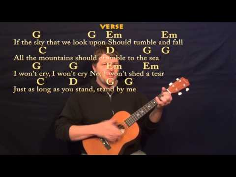 Stand By Me (Ben E King) Easy Baritone Ukulele Cover Lesson in G - Chords/Lyrics