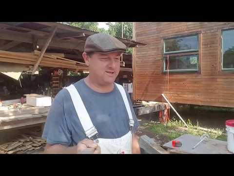 Travel skids and keeping the siding patina Houses Built Tiny