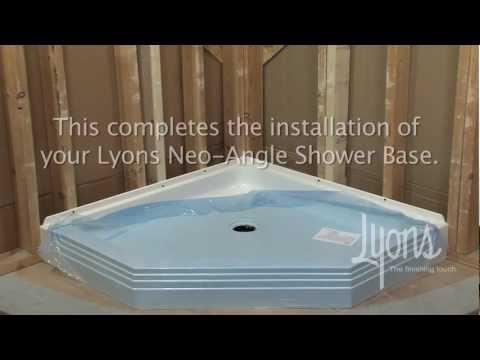 Lyons Neo-Angle Shower Base Installation