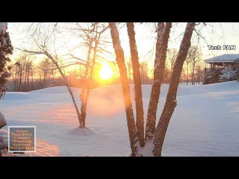 PERFECT SUNRISE 45min 4K GoPRO 6 After SNOW STORM