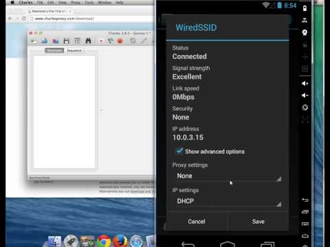 Using Charles Proxy on a Mac with an Android phone