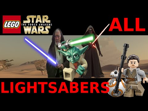 Lego Star Wars The Force Awakens - All Lightsaber / Force / Dark Side Characters