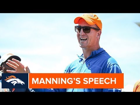 Peyton Manning Talks About DeMarcus Ware & Being a Pro During OTAs | Denver Broncos