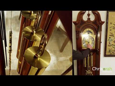 Sligh Grandfather Clock with Hermle Triple Chime -