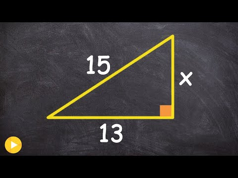 How to find the missing length of a leg of a right triangle