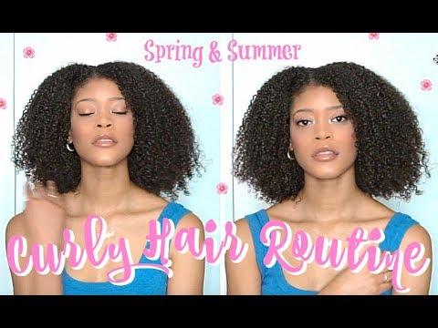 Summer Curly Hair Routine   3C 4A Natural Hair