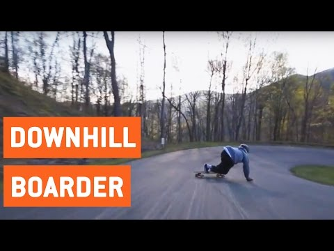 Downhill Longboarder Wipes Out | Speed Wobbles