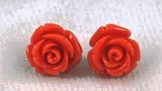 Coral Earrings | Vintage Coral JewelrySet