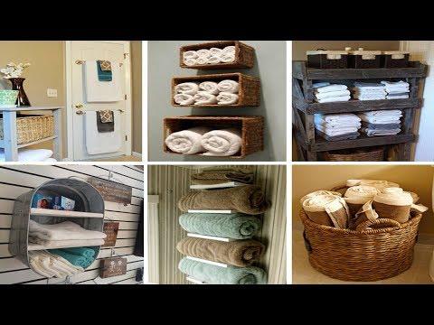 34 Towel Storage for Bathroom Ideas